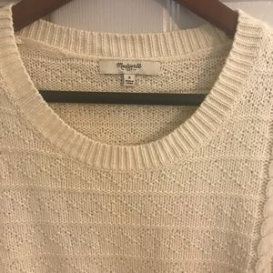 Cream sweater from Madewell